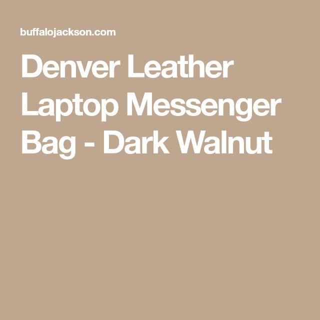 Denver Leather Laptop Messenger Bag - Dark Walnut