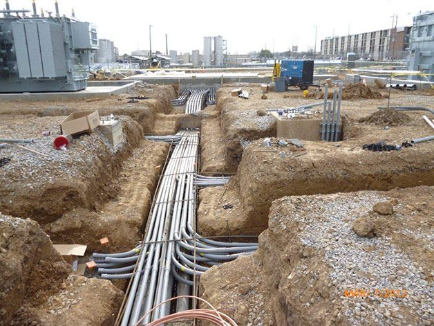 Underground Pvc Pipe Conduit Power Cables Pinterest