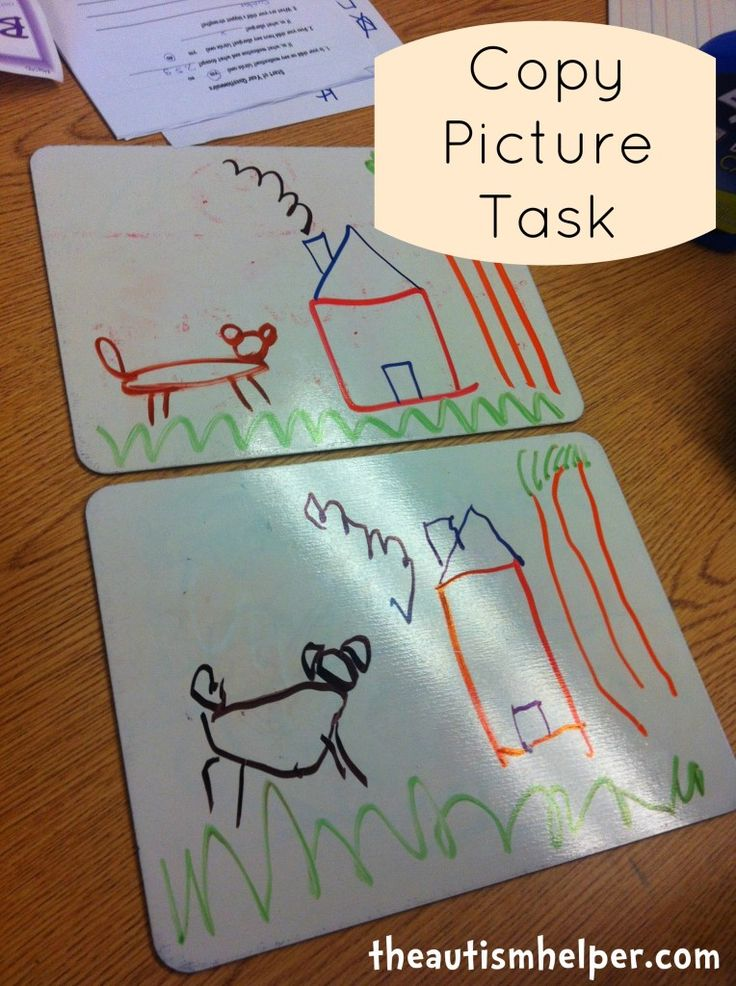 Copy Picture Task {increase visual performance & fine motor skills} by theautsimhelper.com