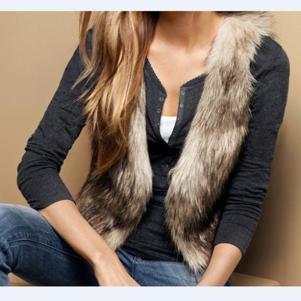 Женщины мода люкс искусственного меха короткие тонкий теплый жилет женская куртка шаль пальто жилет одежды костюм для осень зима, меховой меховая жилетка жилетки женский жилеты женские для женщин зимний жилет из меха