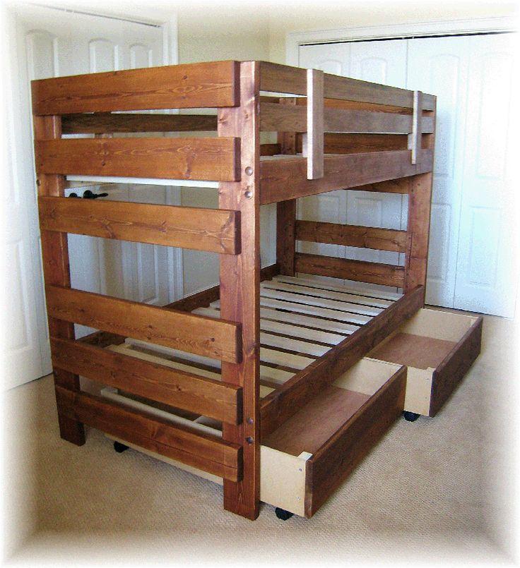 luxurious bunk bed plans from wood rustic wooden style storage bunk bed plans design ideas palettenetagenbettenrustikale etagenbettenholz - Einfache Hausgemachte Etagenbetten