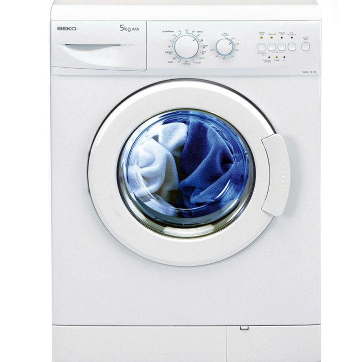 Lave linge frontal 5 kg Beko WML 15105 - Blanc prix promo La Maison de Valerie 239,99 € TTC