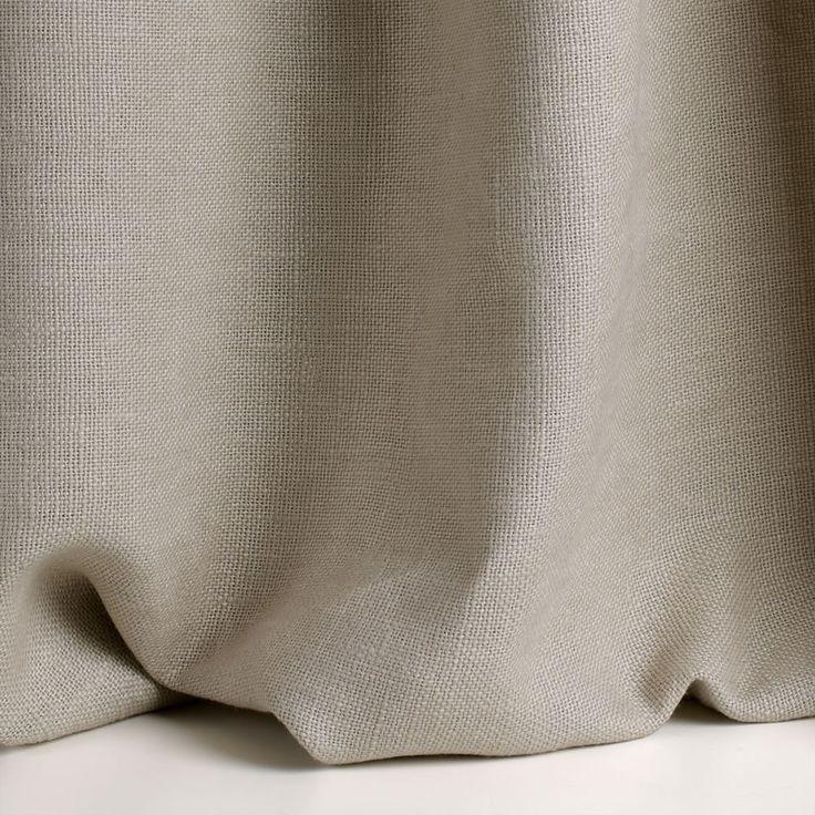 Tessuto a tinta unita in lino per tende ALEPH By Dedar Tela grossa di lino dalla grossa grammatura in grande altezza, morbida e corposa.
