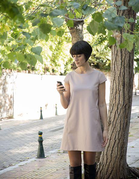 Dress leather onesize M - L!!! www.cherryschoice.gr