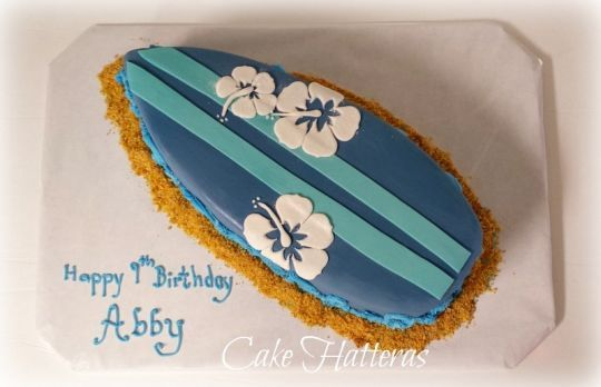 A Surfboard Cake