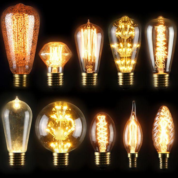 Details about E27 40W Industrial Style Vintage Retro Edison Filament Light  Bulb Lamp 110V/220V