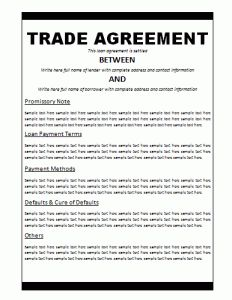 Trade Agreement Template