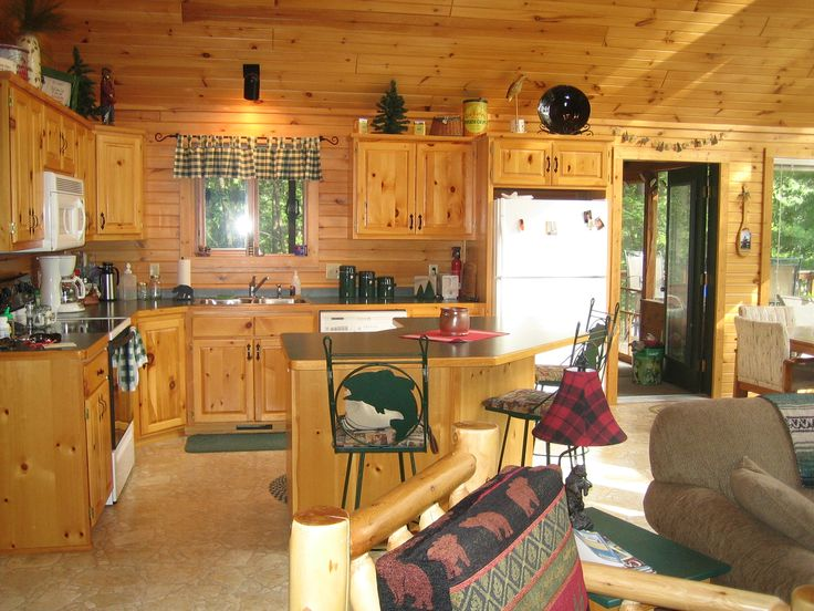 Cool Small Cabin Interior Design With Brown Wooden Floor And Wall