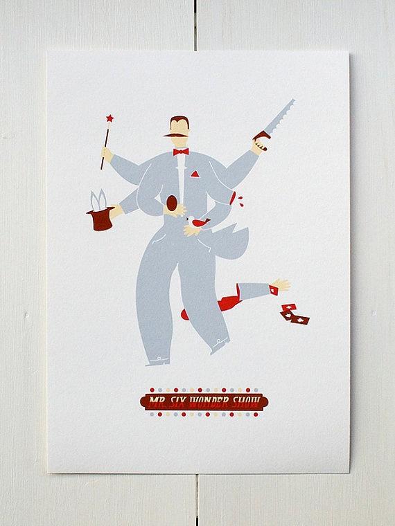 The Magician  Circus Series di MonsieurP su Etsy.