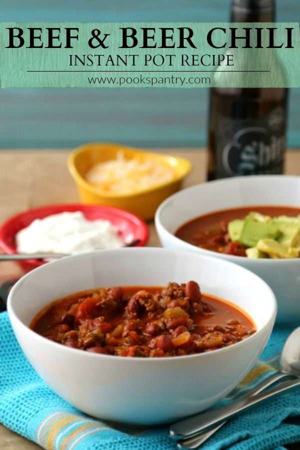 Quick And Easy Beef Dark Beer Chili Instant Pot Recipe Recipe Chili Instant Pot Recipe Instant Pot Recipes Recipes