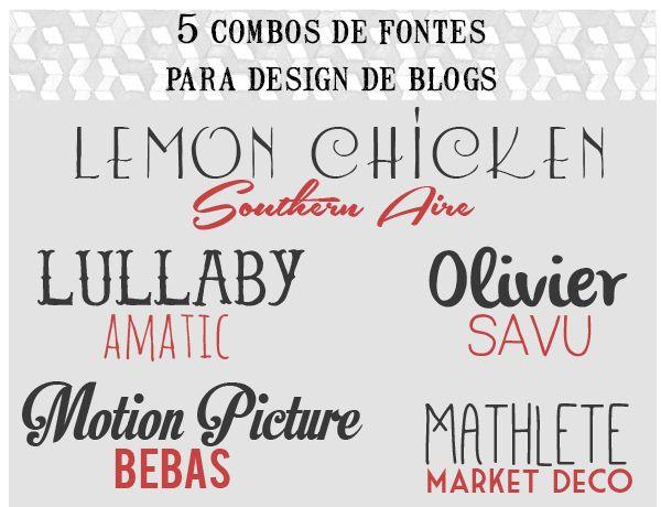 a life less ordinary: 5 font combinations