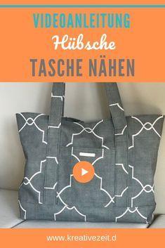 👜 Tasche mit Außen- und Innentaschen nähen… und mein neues ♡ Nähzubeh…