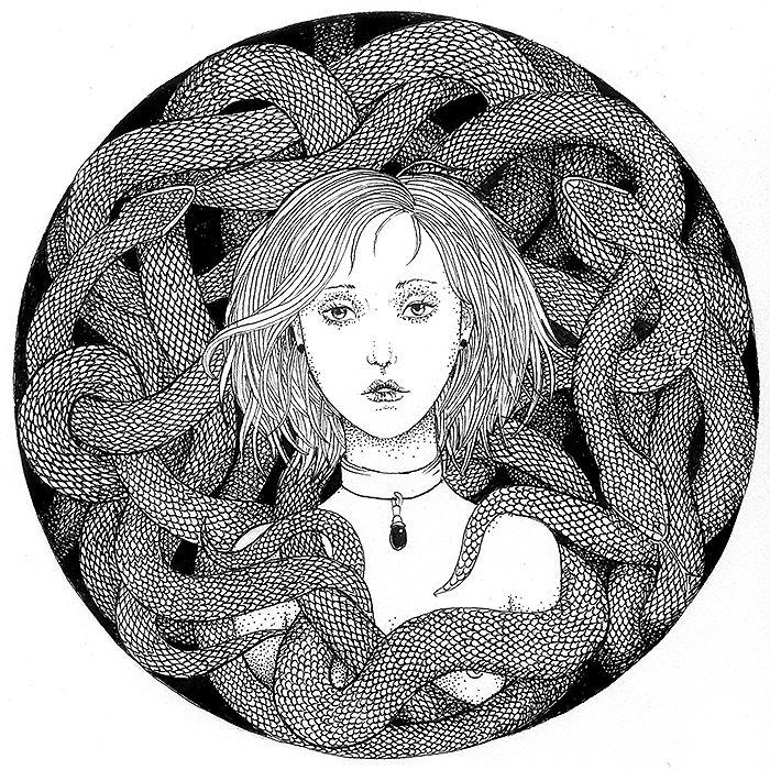 Malwina de Bradé. ink.