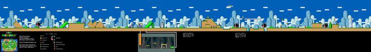 Super Mario World - Yoshi's Island 1 Super Nintendo SNES Map