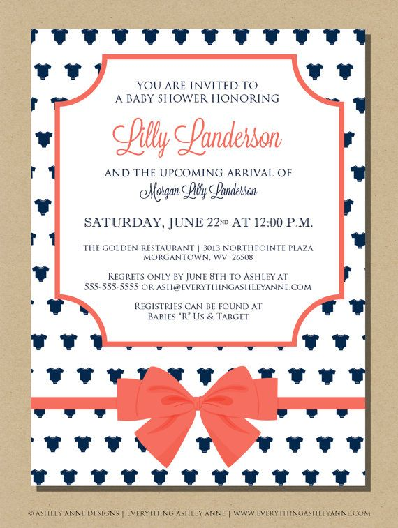 Printable DIY Navy Coral Baby Shower by everythingashleyanne, $10.00 FABULOUS!! #eeapinterestgiveaway