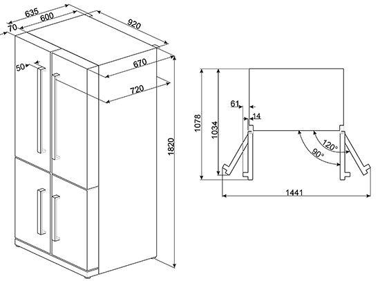 Refrigerators FQ60XP - Smeg | Smeg UK