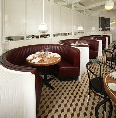 Curved booth seat | Restaurant Interiors | Pinterest ...