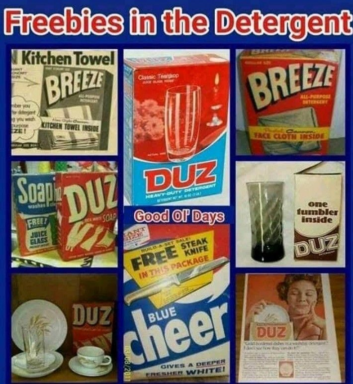 Yep Free Gifts In Powdered Laundry Detergent I Always Liked The