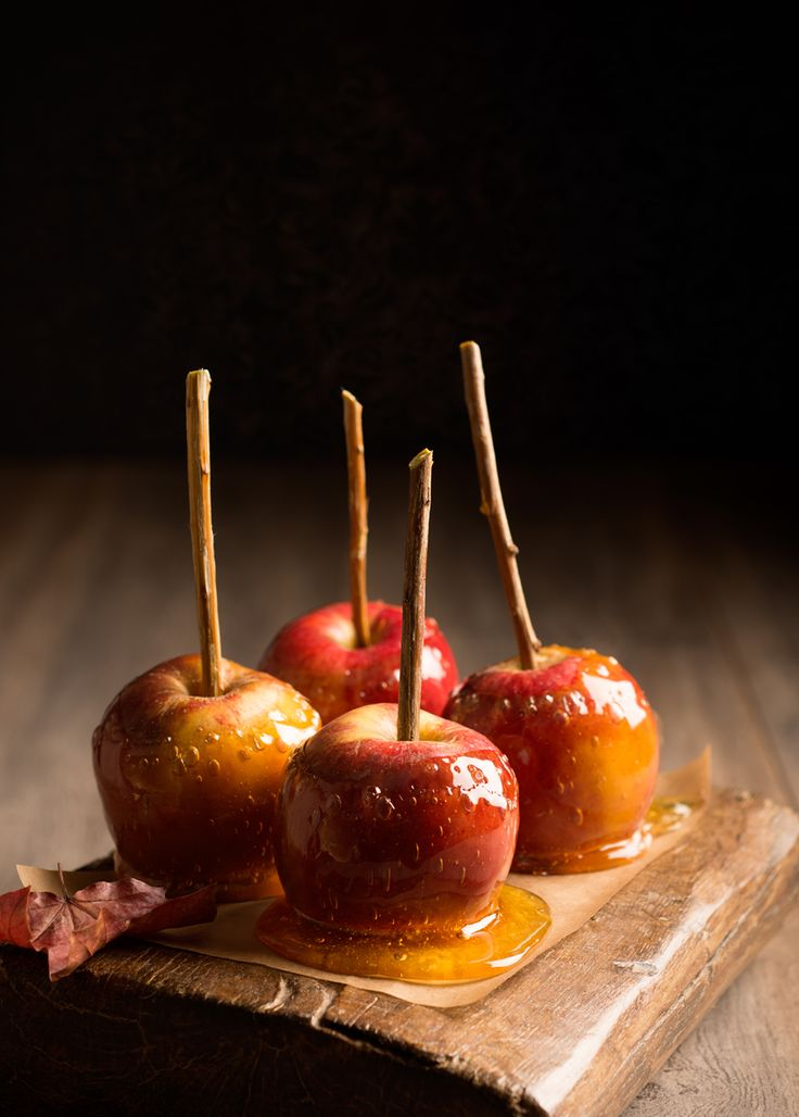 Maple Syrup Caramel Apples