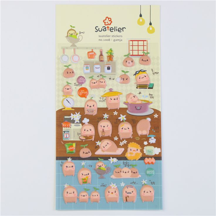1 Pc / Pack Korea Stationery Wholesale Potato Life Perspective Puffy Sticker Diary Decorative Sponge Into A Single Sticker #>=#>=#>=#>=#> Click on the pin to check out discount price, color, size, shipping, etc. Save and like it!