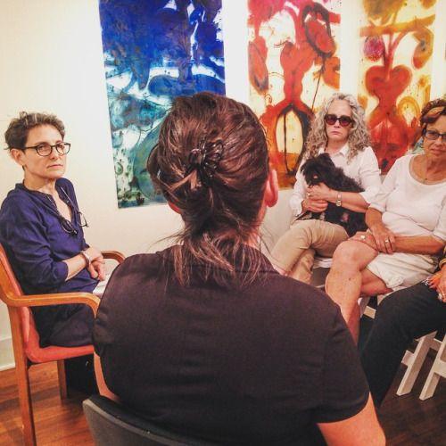 #SuzanneJoelson interviews #CatherineHowe about #gesture in #painting at Cross #ContemporaryArt #saugertiesny #printmaking #Paintings #nyaaMFA #Monotypes #Saugerties #hudsonvalley #Catskills  (at Cross Contemporary Art)