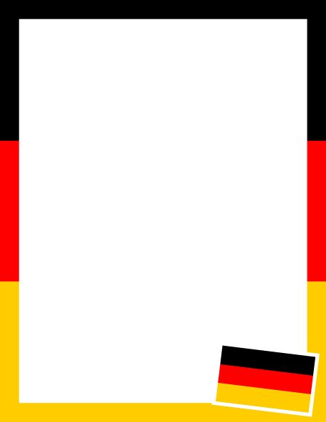 Printable German flag border. Use the border in Microsoft Word or other programs for creating flyers, invitations, and other printables. Free GIF, JPG, PDF, and PNG downloads at  http://pageborders.org/download/german-flag-border/