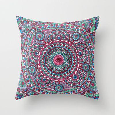 Mesmerizing Mandala Throw Pillow by Flammejumelle - $20.00