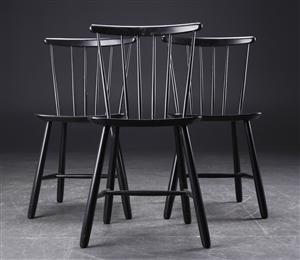 Lauritz.com - Moderna bord och stolar - FDB. Tre tremmestole, sortlakerede. (3) - DK, Roskilde, Store Hedevej
