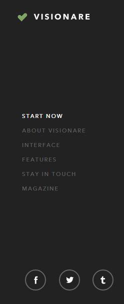 UI Menu #menu #visionare