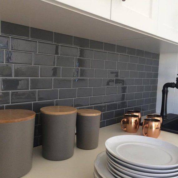 Self Adhesive Tile Wallpaper Gray Brick Subway Tile