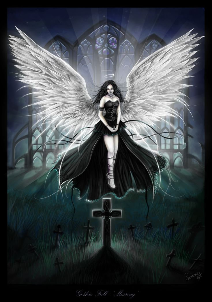 17 best images about gothic drawings on pinterest dark - Dark gothic angel wallpaper ...