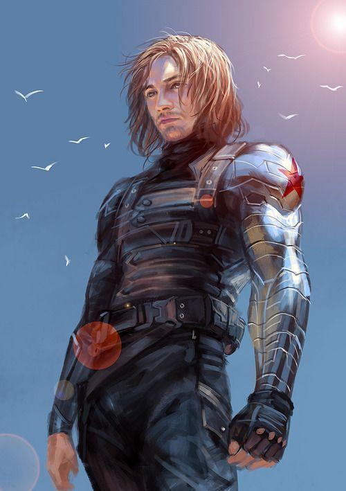 http://sadtrashsebast.tumblr.com/post/101582748032 Bucky The Winter Soldier fan art Marvel's Captain America