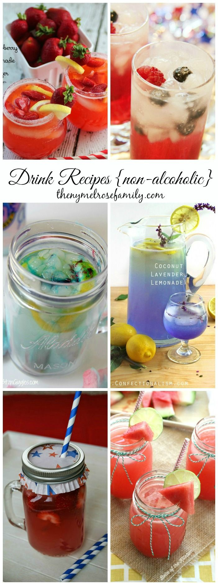 Drink Recipes {non-alcoholic} www.thenymelrosefamily.com #beverages #non_alcoholic #drinks
