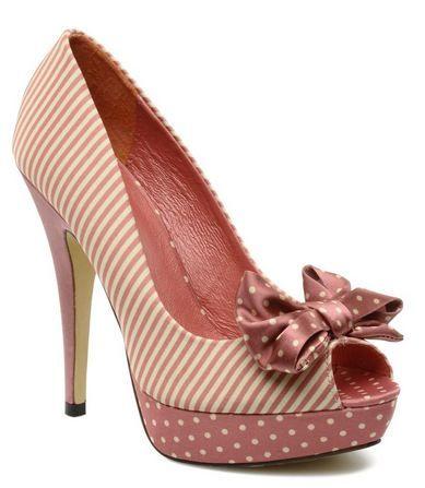 pink polka dot shoes - love.: Peep Toe Pumps, Hairs Shoes, Pink Polkadot, Polka Dots Shoes, Color, Daily Shoes, Hd Backgrounds, Polkadot Shoes, Shoes High Heels