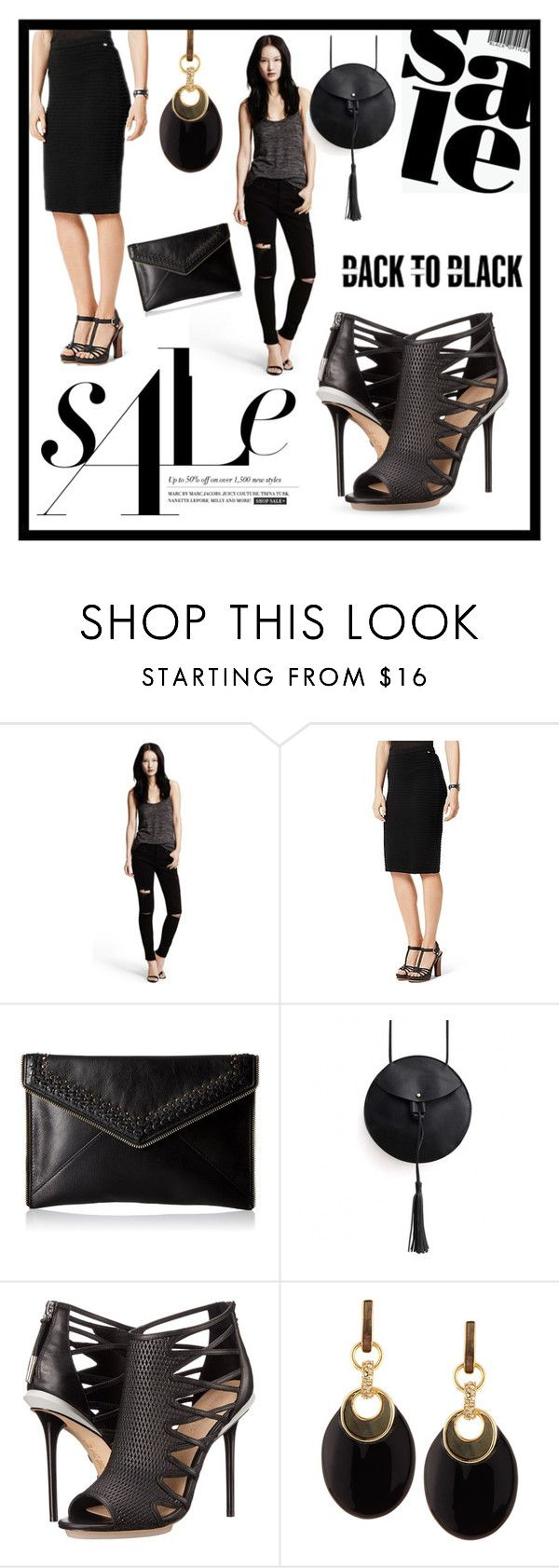 """""""Black on Sale"""" by queenofsienna ❤ liked on Polyvore featuring Clover, Tommy Hilfiger, Rebecca Minkoff, L.A.M.B. and Alexis Bittar"""