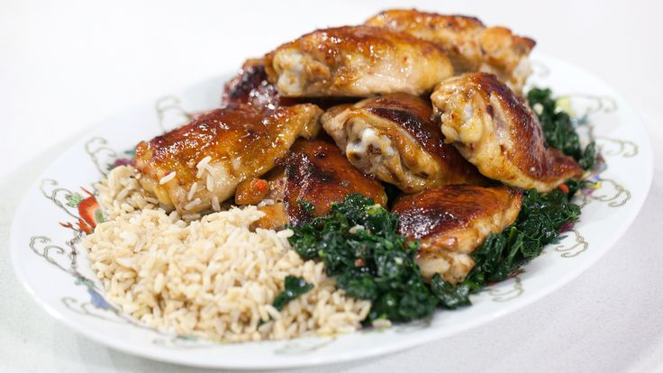 Honey-Hoisin Chicken Thighs with Stir-Fried Kale - TODAY.com