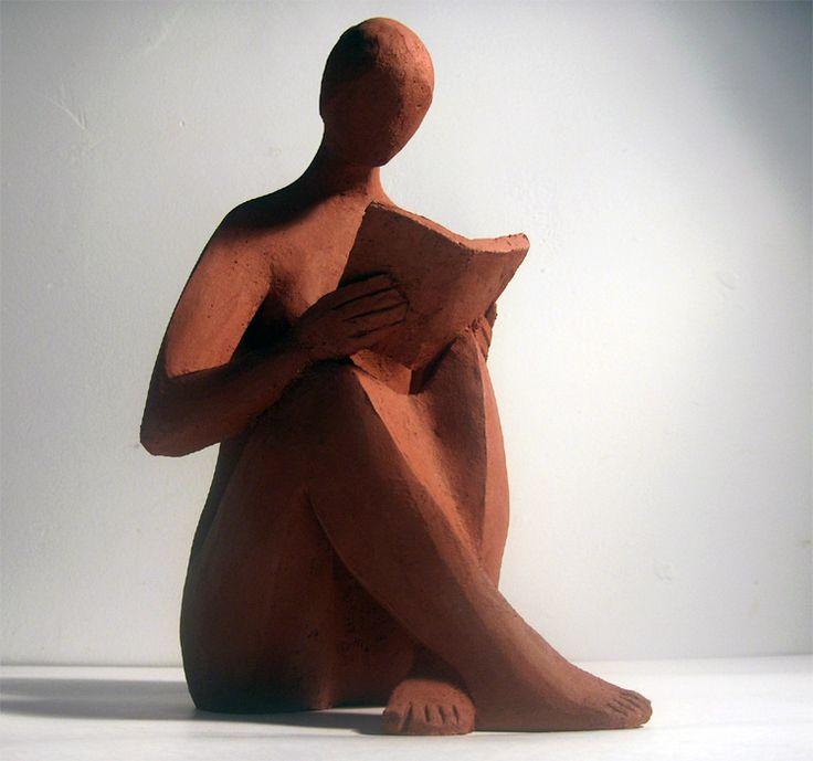 """""""Mujer leyendo"""", de Francisco Hernandis. Ⓜ"""