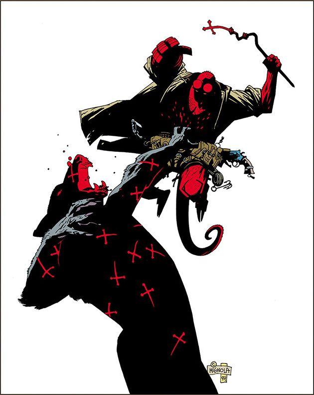 """Mike Mignola - Hellboy: Portada desestimada de """"Los Lobos de San Augusto"""""""