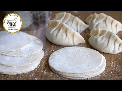 Como hacer Pasta para Gyoza, Empanadillas Chinas y Dumplings|Dumpling wrappers - YouTube