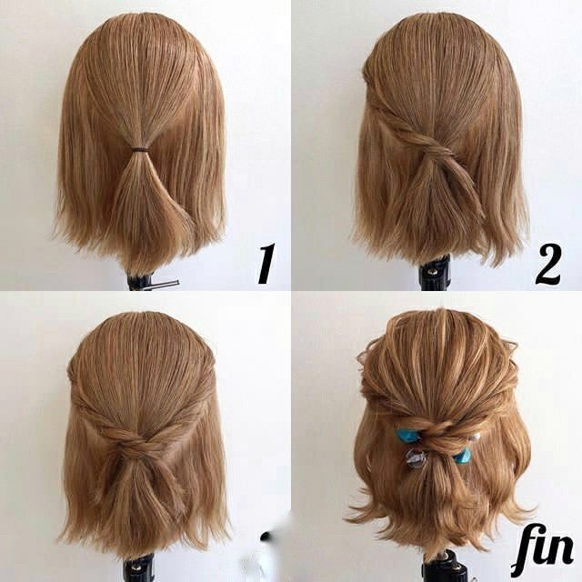 This Hairstyle Is Sent Between You And The Goddess In 2020 Short Hair Styles Easy Short Hair Updo Hair Tutorial
