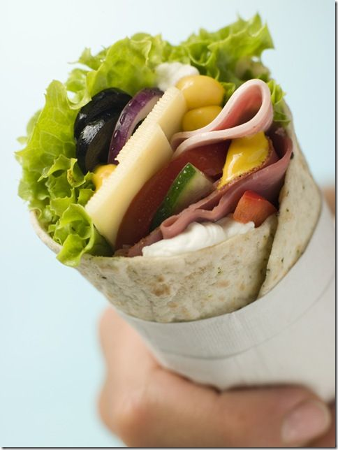 Open Deli Tortilla Wrap in a Napkin.  This site has lots of recipe ideas.  I'm pinning now so I can go through them more thoroughly later.  Thank you Iowa Girl.