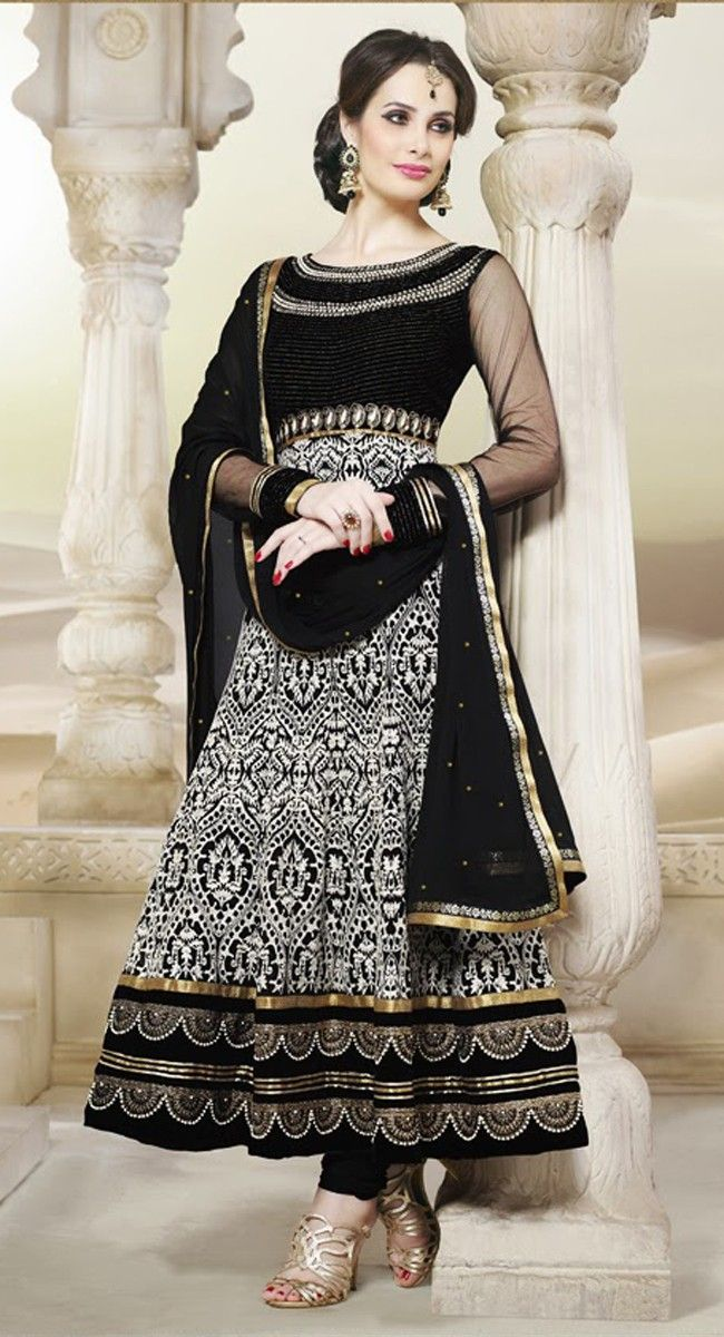 Adorable Black & White Salwar Kameez