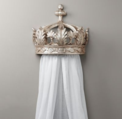 Demilune Pewter Crown Bed Canopy | Wall Décor | Restoration Hardware Baby & Child