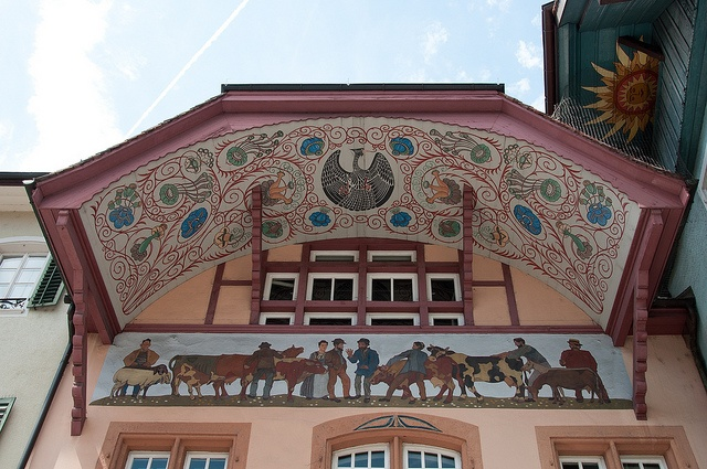 One of the many beautiful roofs in Aarau, via Flickr.