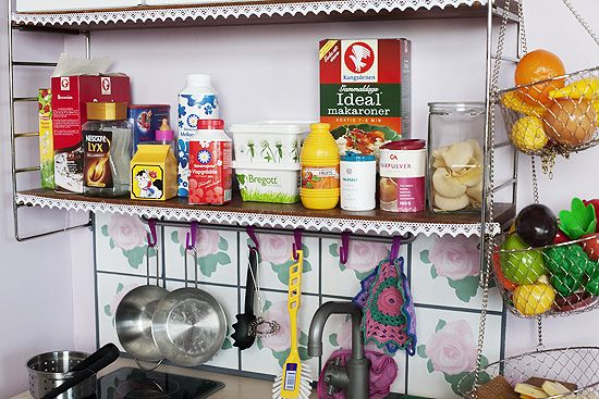 Harrys kitchen - Old food cartons makes perfect toys.