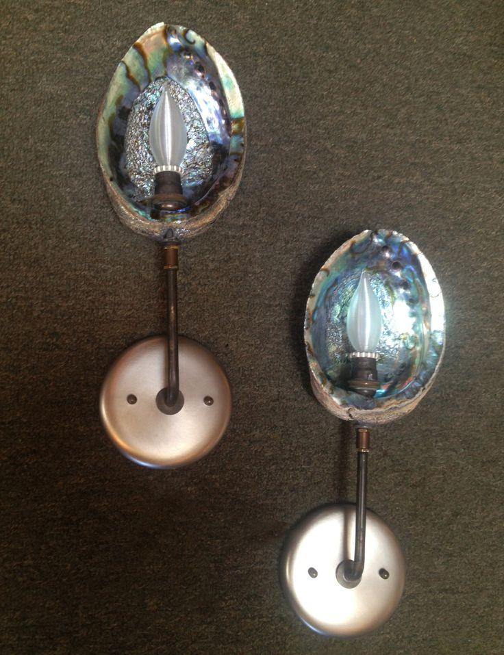 Abalone Wall Sconces Omega Lighting Design Berkeley Ca