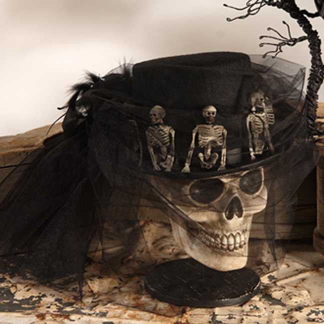 Skeleton hat. super cool! and could be relatively easy to make if you search thrift stores enough