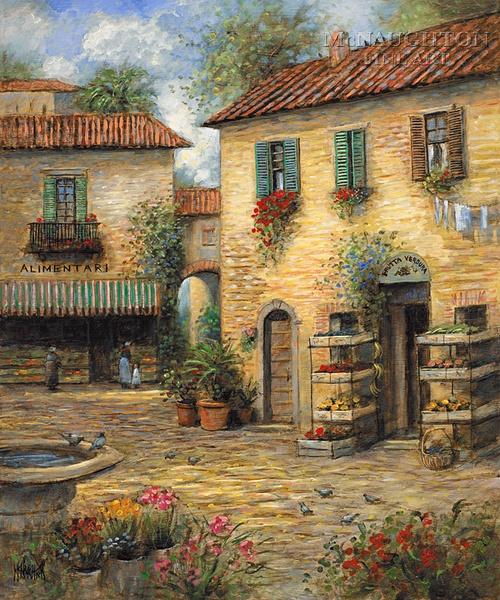 Landscapes - Tuscany - Tuscan Marketplace - McNaughton Fine Art Company