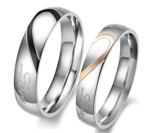"OPK Lover's Heart Shape Titanium Stainless Steel Mens Ladies Promise Ring ""Real Love"" Couple Wedding Bands 284 (Women's Ring, 7) Dreamslink,http://www.amazon.com/dp/B00AVJQZDG/ref=cm_sw_r_pi_dp_3koWrb07455F41AC"