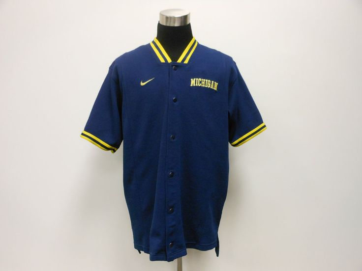 Vtg 90s Nike Michigan Wolverines Basketball Shooting Shirt Warm Up sz XL SEWN #Nike #MichiganWolverines  #tcpkickz